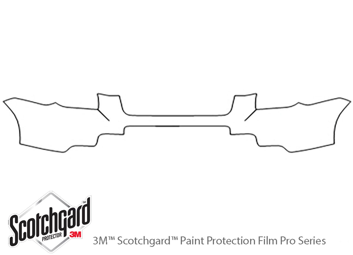 Honda Pilot 2006-2008 3M Clear Bra Bumper Paint Protection Kit Diagram