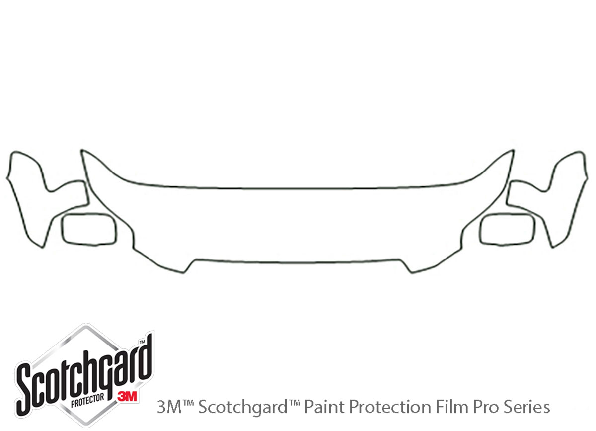 Honda Pilot 2006-2008 3M Clear Bra Hood Paint Protection Kit Diagram