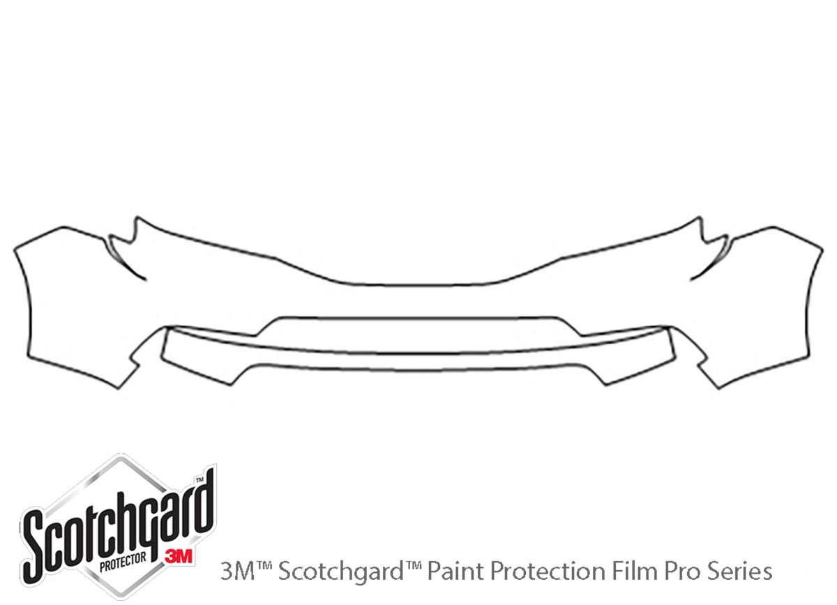 Honda Pilot 2012-2015 3M Clear Bra Bumper Paint Protection Kit Diagram