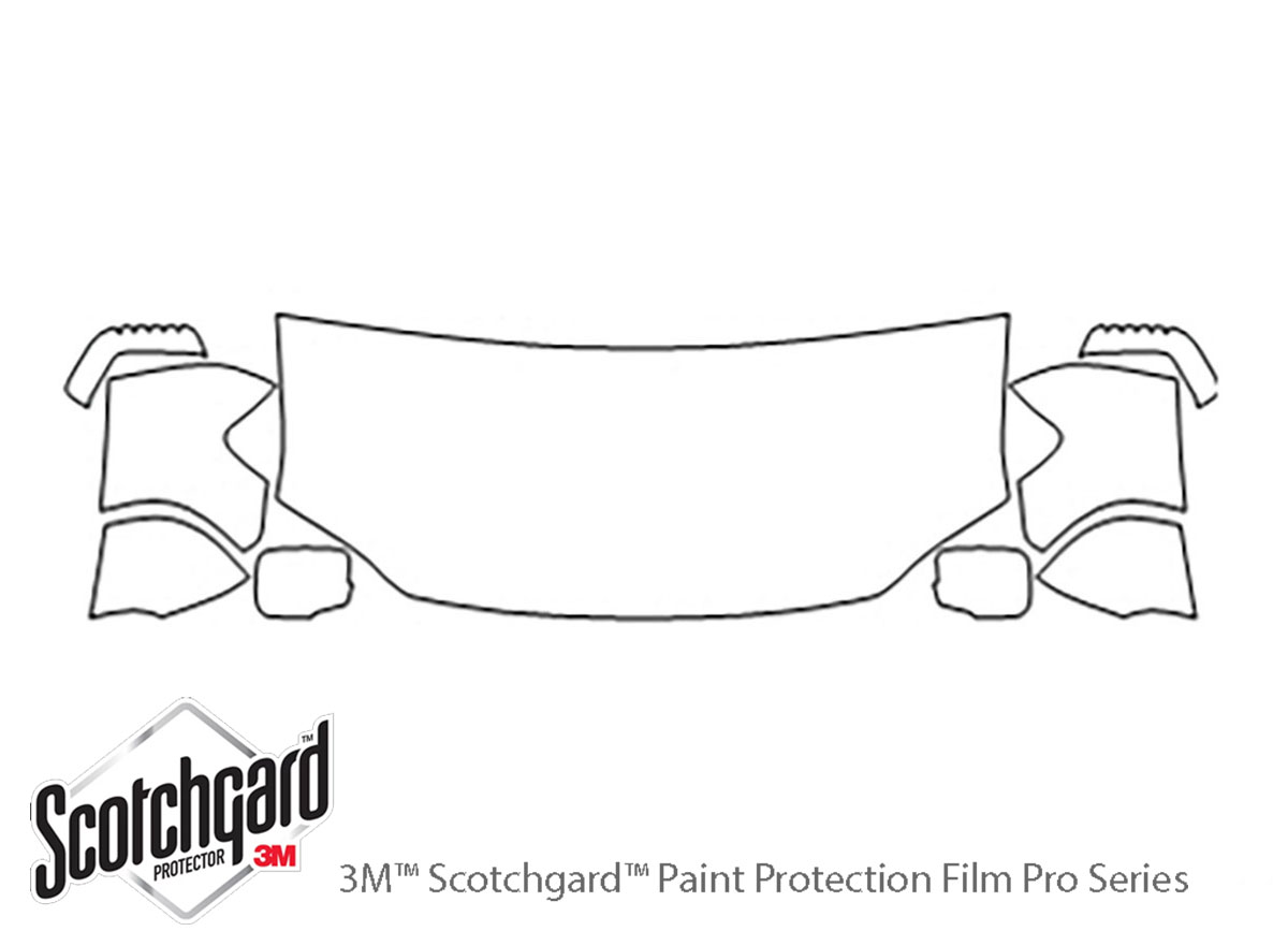 Honda Ridgeline 2006-2014 3M Clear Bra Hood Paint Protection Kit Diagram