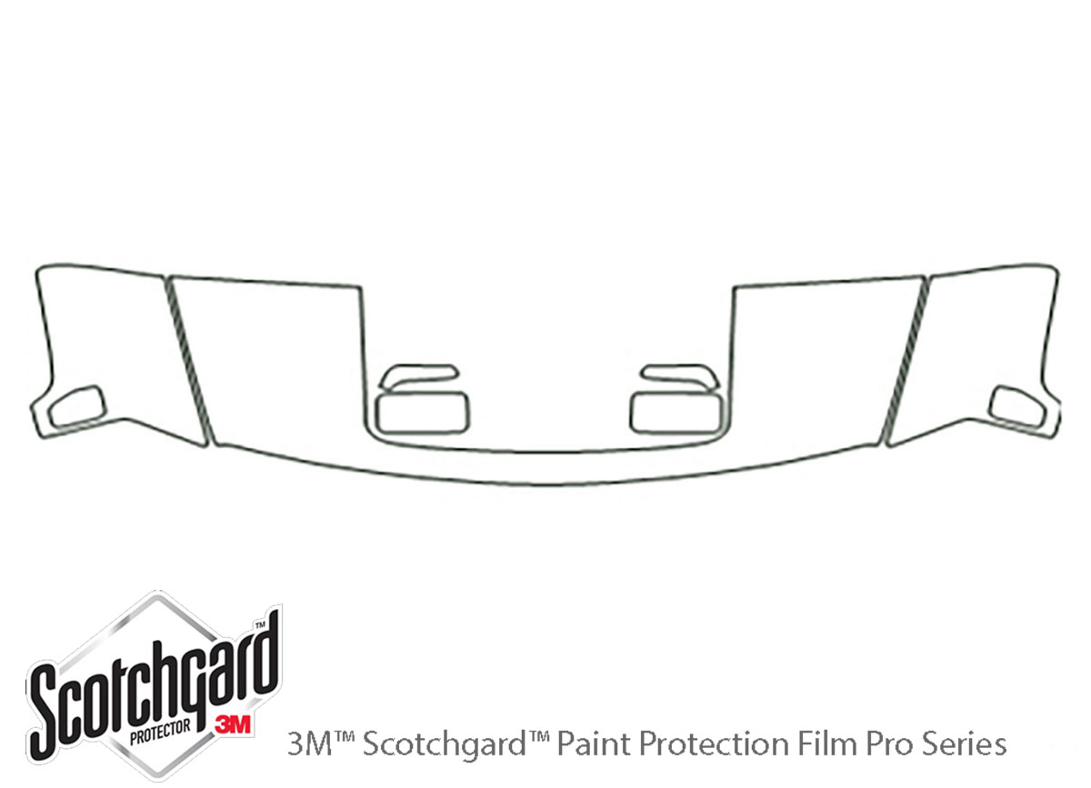 Hummer H3 2006-2010 3M Clear Bra Hood Paint Protection Kit Diagram