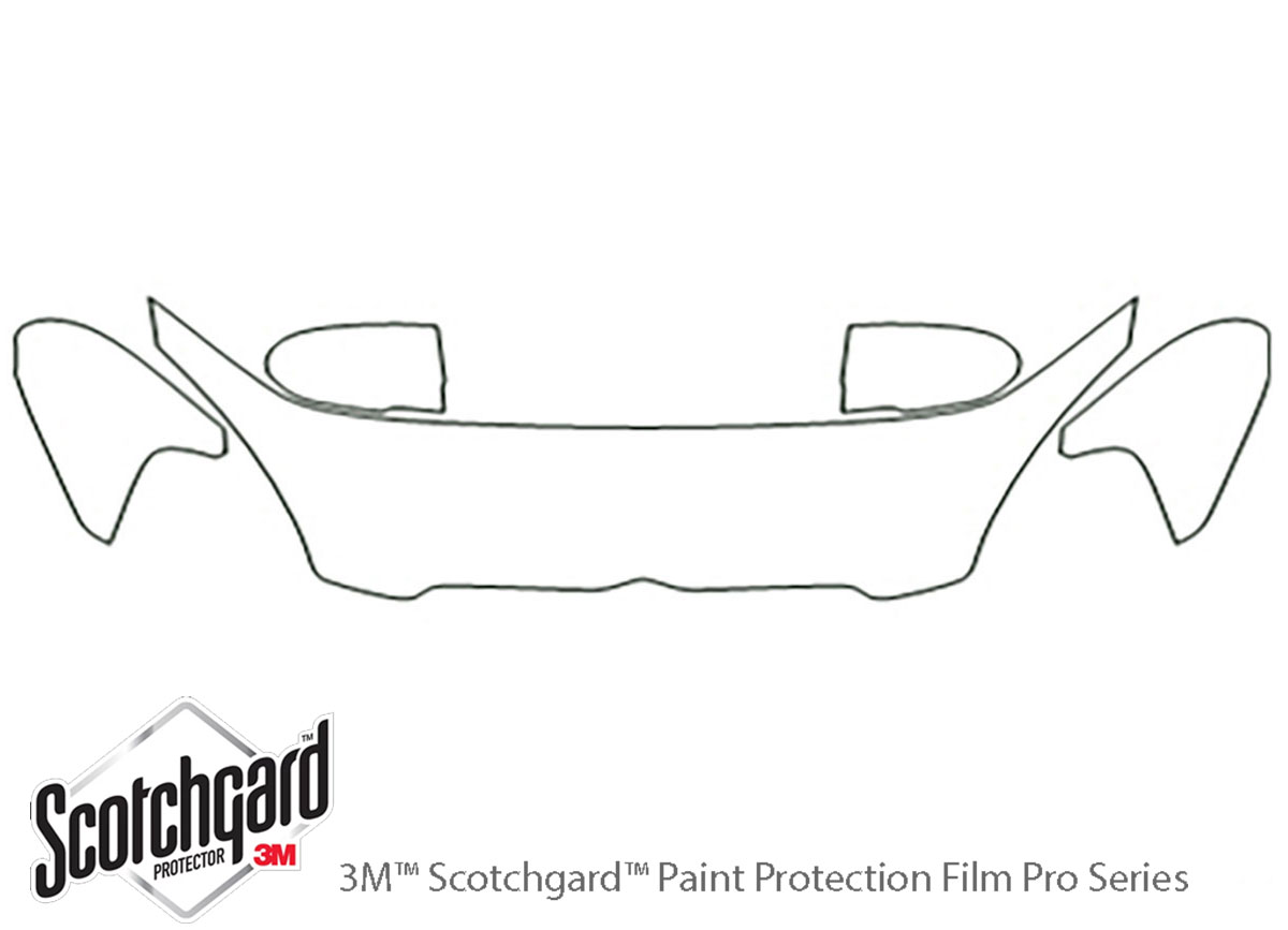 Hyundai Accent 2006-2011 3M Clear Bra Hood Paint Protection Kit Diagram