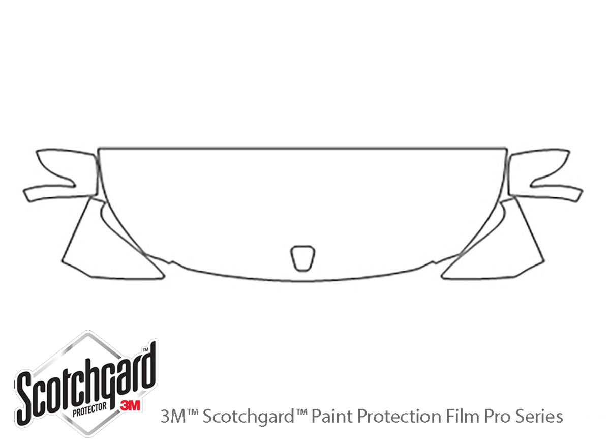 Hyundai Equus 2011-2016 3M Clear Bra Hood Paint Protection Kit Diagram