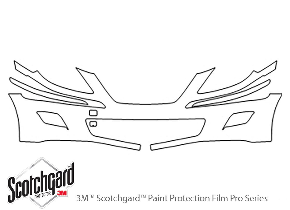 Hyundai Genesis 2009-2011 3M Clear Bra Bumper Paint Protection Kit Diagram