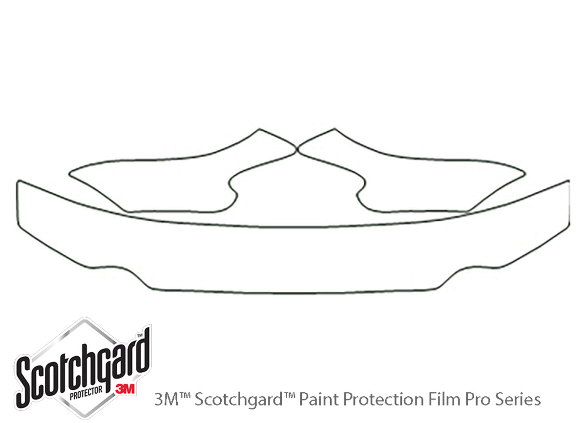 Hyundai Sonata 1997-1999 3M Clear Bra Hood Paint Protection Kit Diagram