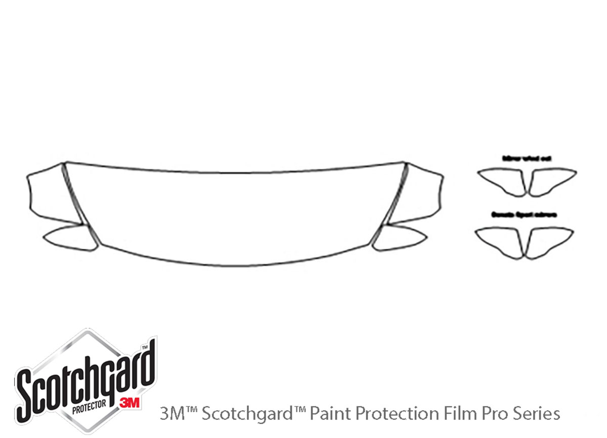 3M Scotchgard Paint Protection Clear Bra Kit for Hyundai Sonata 2015-2017
