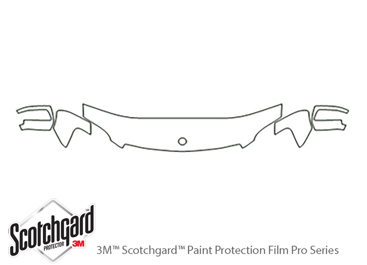 Mercedes-Benz GL-Class 2010-2012 3M Clear Bra Hood Paint Protection Kit Diagram
