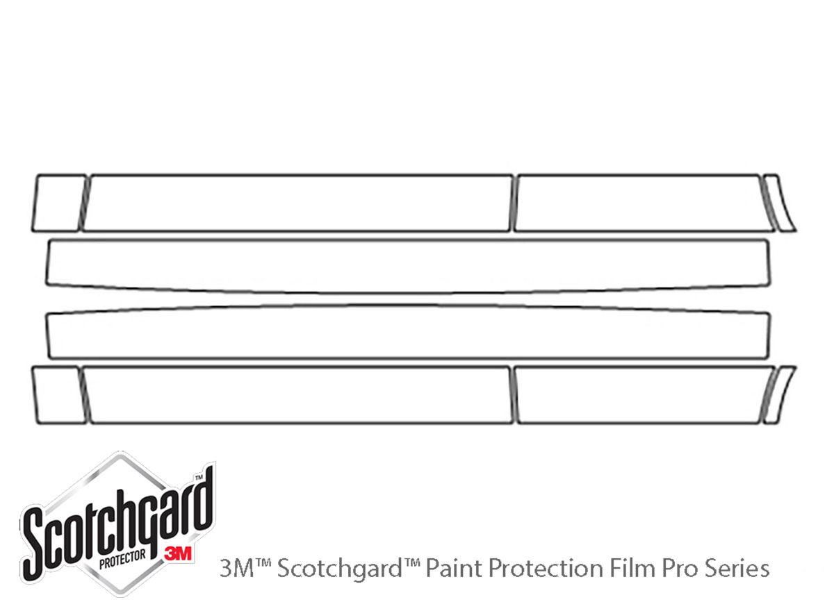 Mitsubishi Outlander 2014-2015 3M Clear Bra Door Cup Paint Protection Kit Diagram
