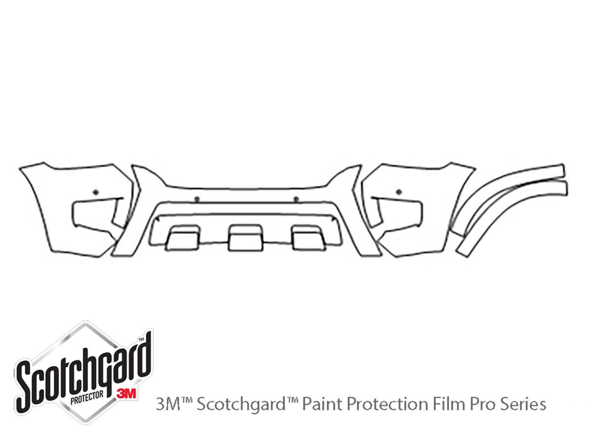 3M Scotchgard PreCut Paint Protection Clear Bra PPF for Nissan Armada 2017-2019