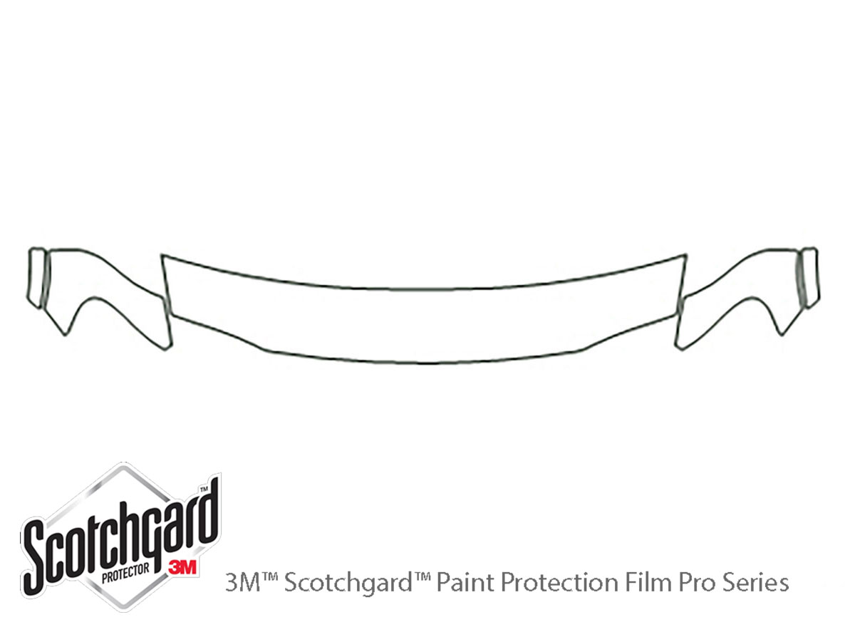 Pontiac Trans Port 1997-1997 3M Clear Bra Hood Paint Protection Kit Diagram