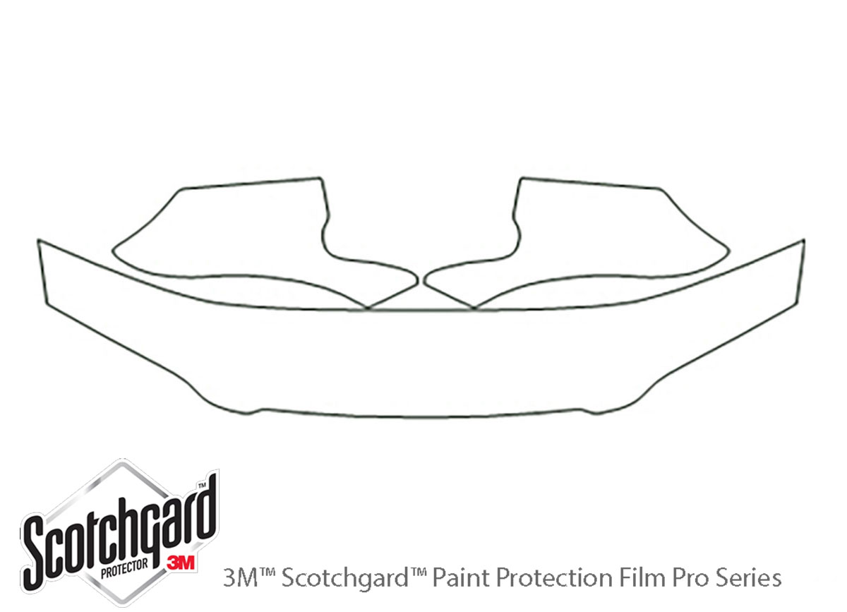 Toyota Camry 1992-1996 3M Clear Bra Hood Paint Protection Kit Diagram