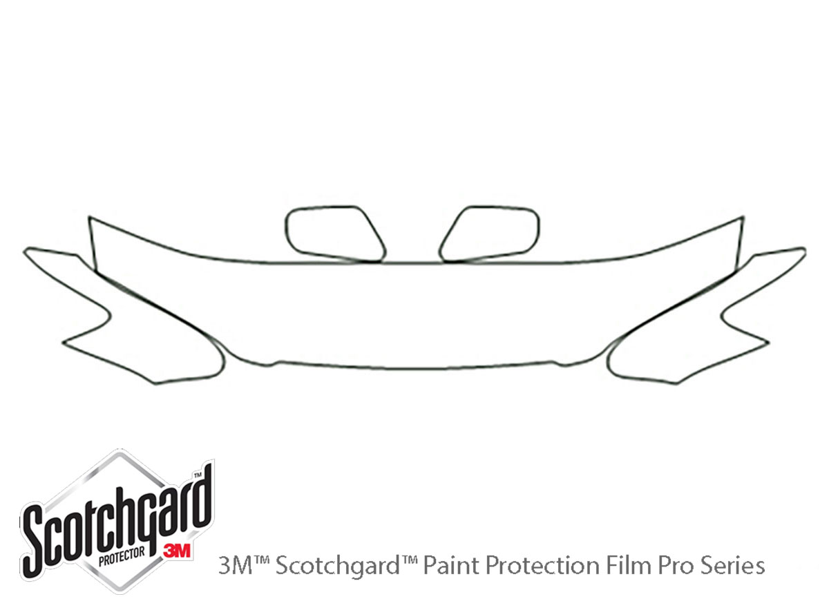 Toyota Camry 1997-2001 3M Clear Bra Hood Paint Protection Kit Diagram