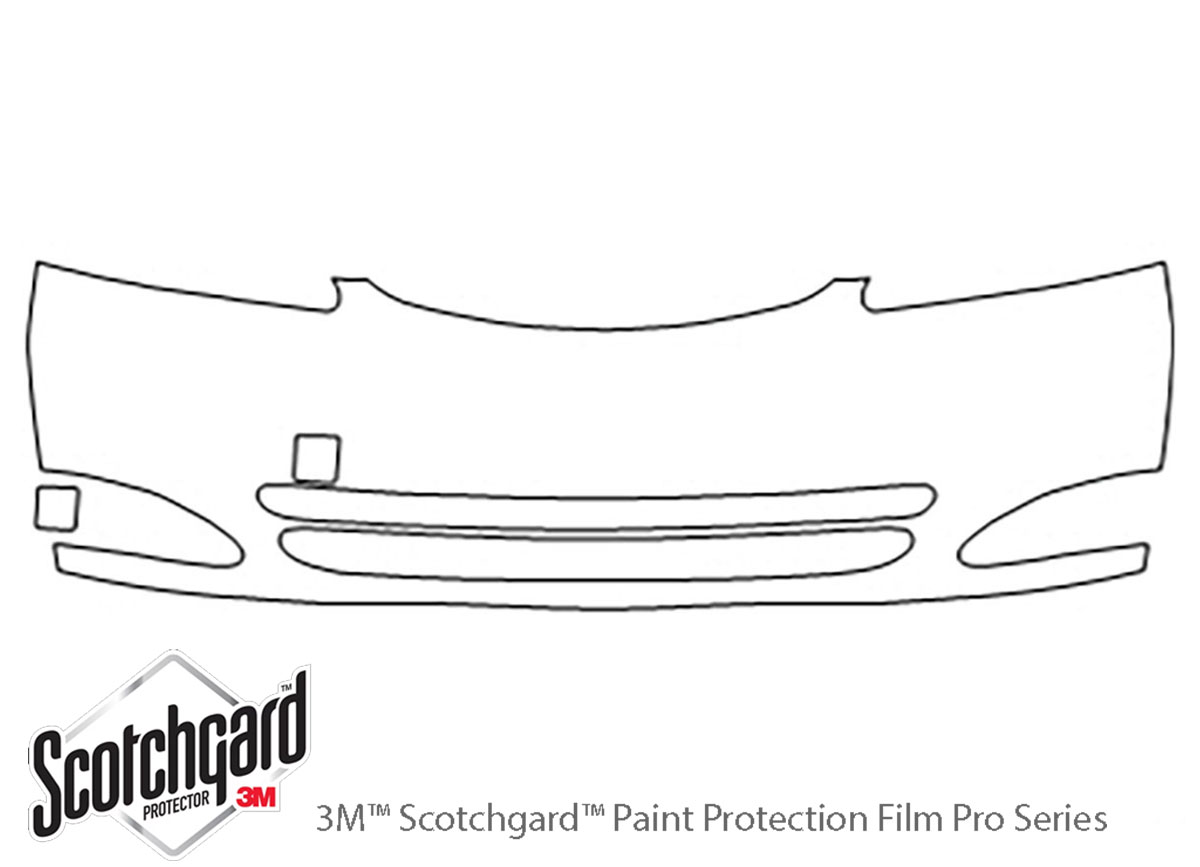 Toyota Camry 2002-2004 3M Clear Bra Bumper Paint Protection Kit Diagram