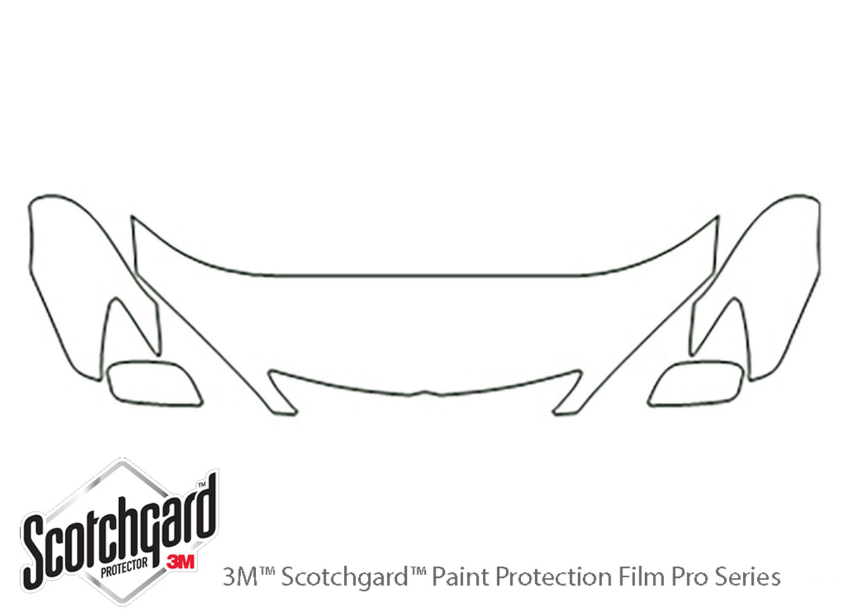 Toyota Camry 2002-2004 3M Clear Bra Hood Paint Protection Kit Diagram