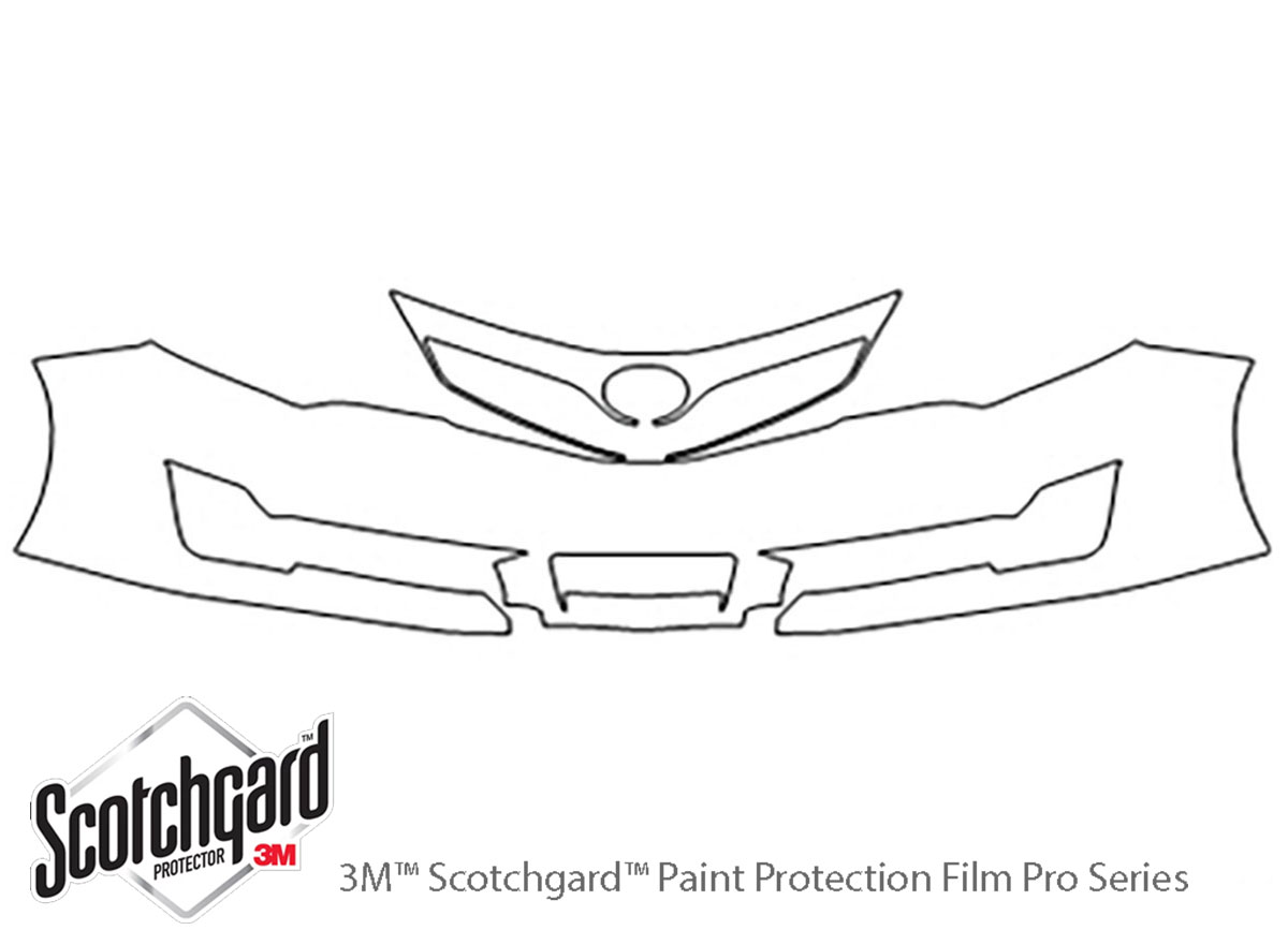 Toyota Camry 2012-2014 3M Clear Bra Bumper Paint Protection Kit Diagram