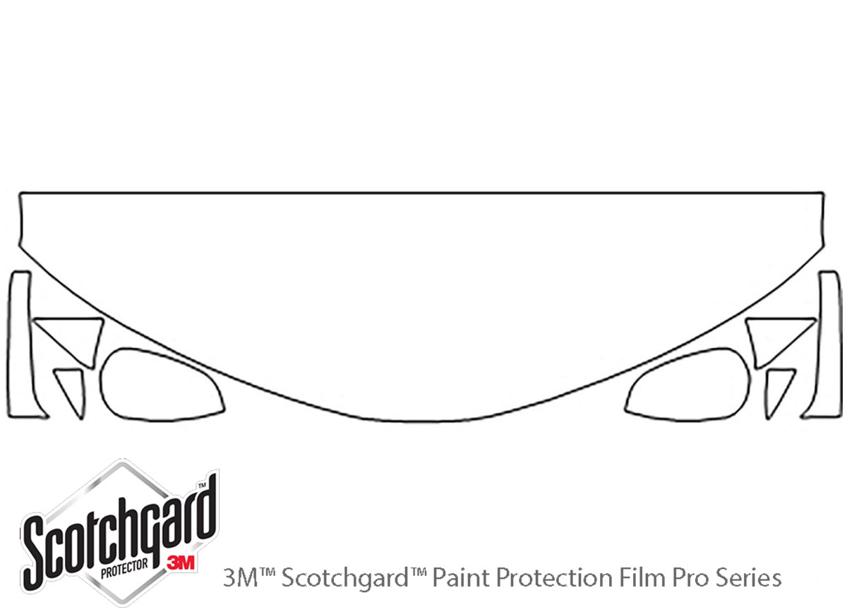 Toyota Camry 2012-2014 3M Clear Bra Hood Paint Protection Kit Diagram
