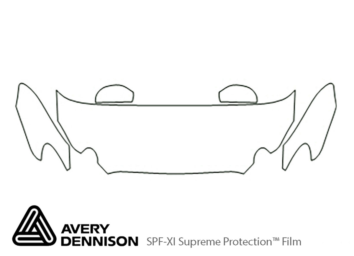 Buick Lacrosse 2005-2007 Avery Dennison Clear Bra Hood Paint Protection Kit Diagram
