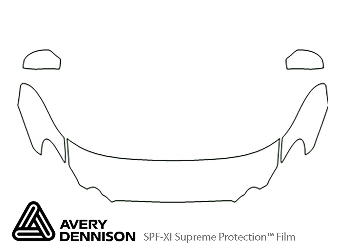 Buick Lacrosse 2008-2009 Avery Dennison Clear Bra Hood Paint Protection Kit Diagram