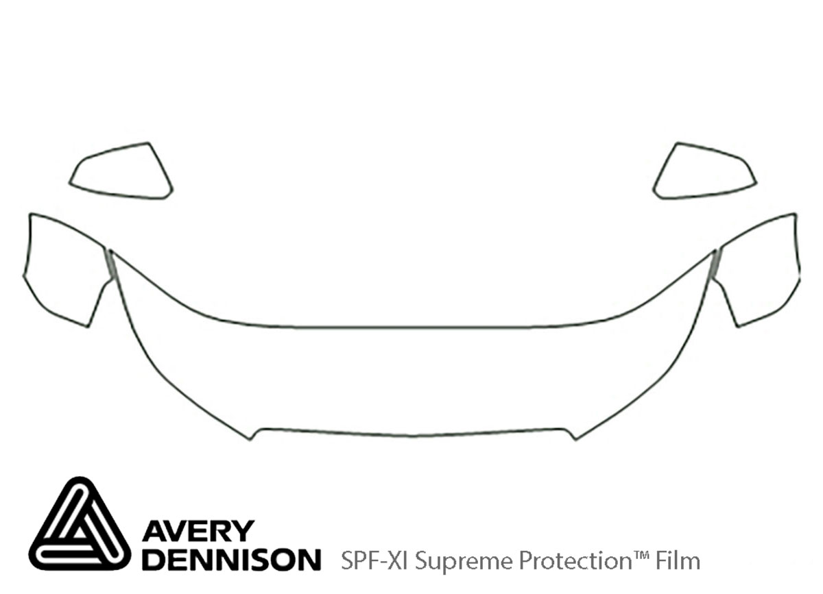 Buick Lacrosse 2010-2013 Avery Dennison Clear Bra Hood Paint Protection Kit Diagram