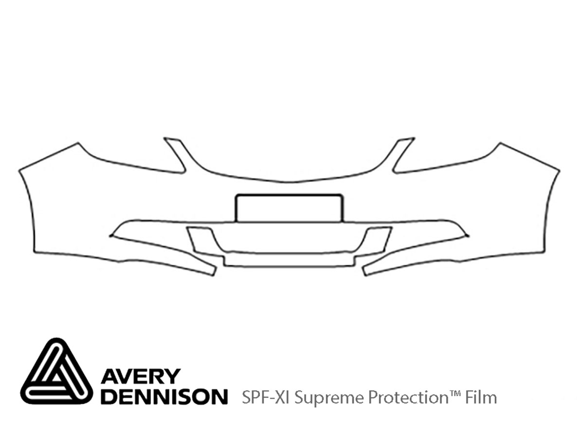 Buick Verano 2012-2017 Avery Dennison Clear Bra Bumper Paint Protection Kit Diagram