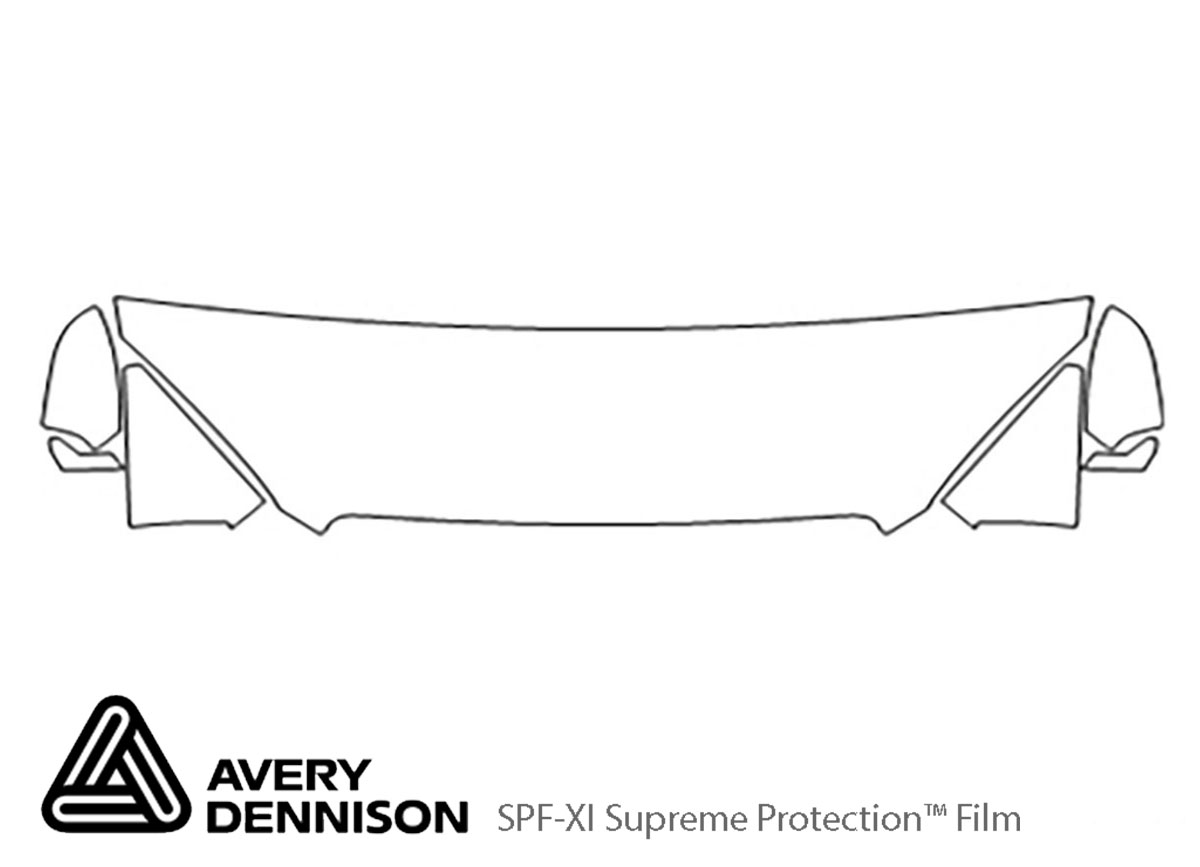 Buick Verano 2012-2017 Avery Dennison Clear Bra Hood Paint Protection Kit Diagram