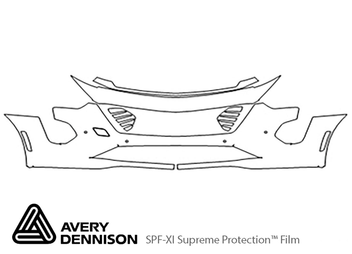 Cadillac CT6 2019-2020 Avery Dennison Clear Bra Bumper Paint Protection Kit Diagram