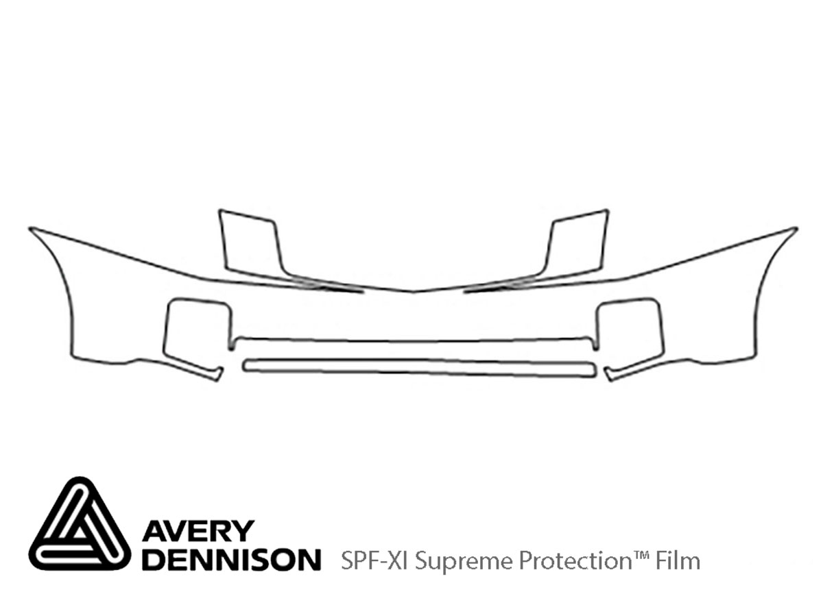 Cadillac CTS 2003-2007 Avery Dennison Clear Bra Bumper Paint Protection Kit Diagram
