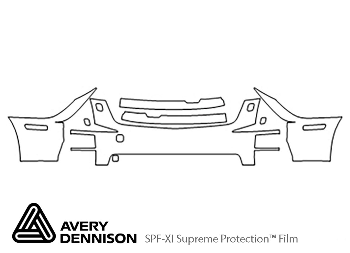 Cadillac STS 2005-2007 Avery Dennison Clear Bra Bumper Paint Protection Kit Diagram