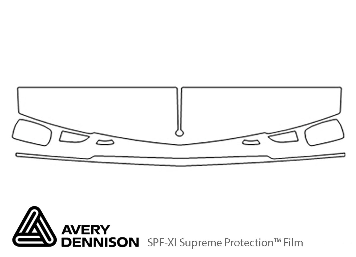 Cadillac Seville 1992-1996 Avery Dennison Clear Bra Hood Paint Protection Kit Diagram