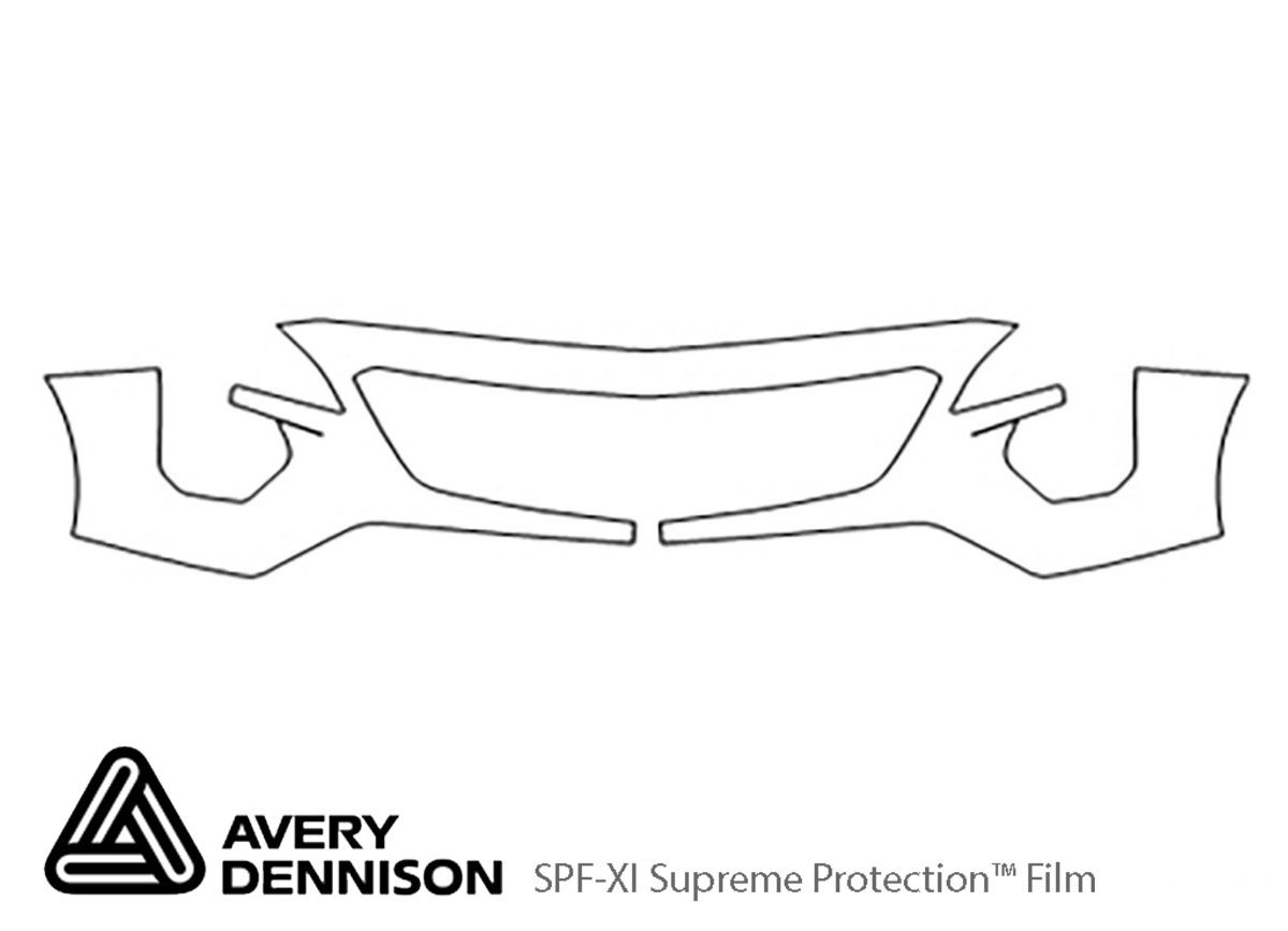 Cadillac XT4 2019-2021 Avery Dennison Clear Bra Bumper Paint Protection Kit Diagram