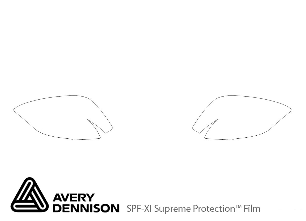 Cadillac XT5 2017-2021 Avery Dennison Clear Bra Door Cup Paint Protection Kit Diagram