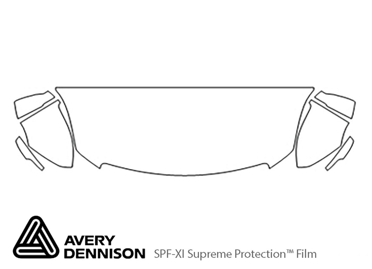 Cadillac XTS 2013-2017 Avery Dennison Clear Bra Hood Paint Protection Kit Diagram