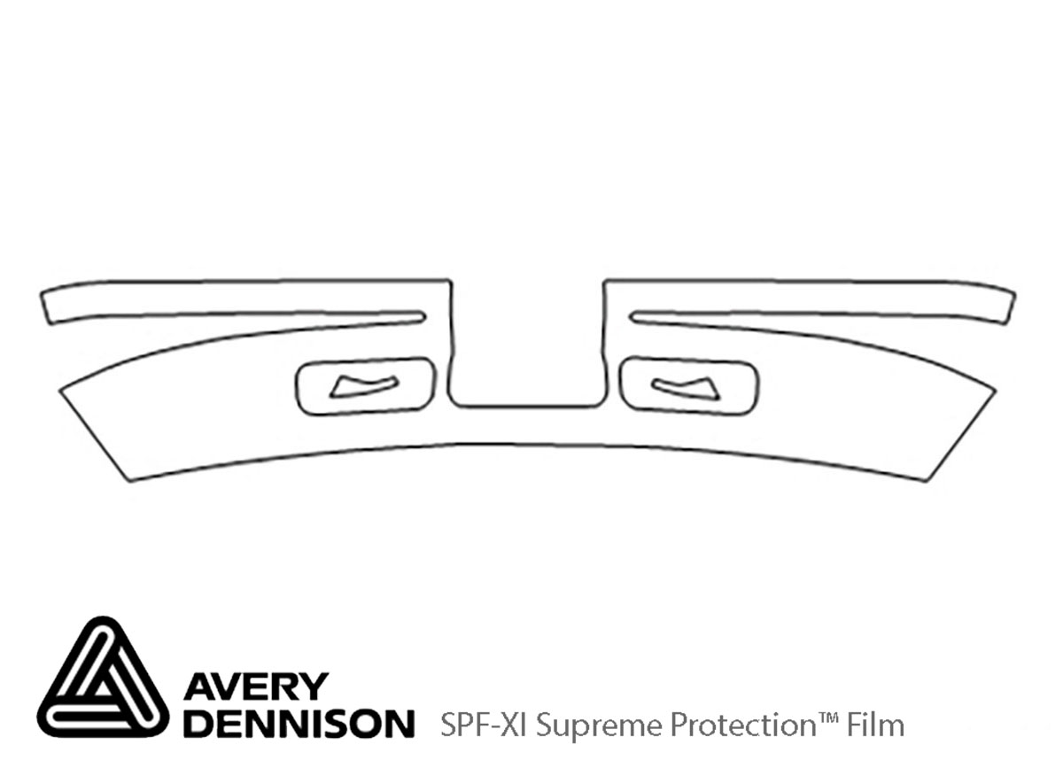 Chevrolet Astro 1995-2004 Avery Dennison Clear Bra Bumper Paint Protection Kit Diagram
