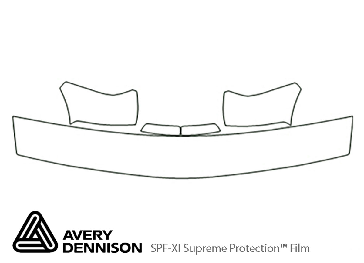 Chevrolet Blazer 1997-2005 Avery Dennison Clear Bra Hood Paint Protection Kit Diagram