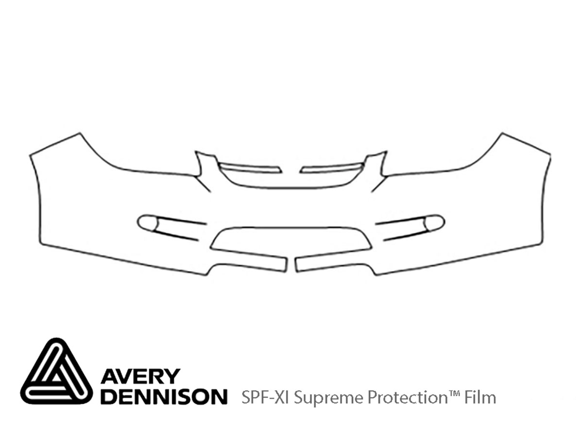 Chevrolet Cobalt 2005-2010 Avery Dennison Clear Bra Bumper Paint Protection Kit Diagram