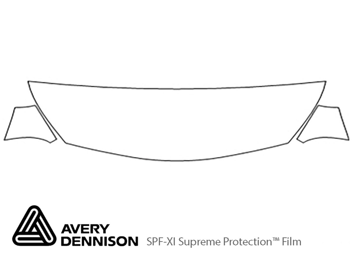 Chevrolet Malibu 2013-2013 Avery Dennison Clear Bra Hood Paint Protection Kit Diagram