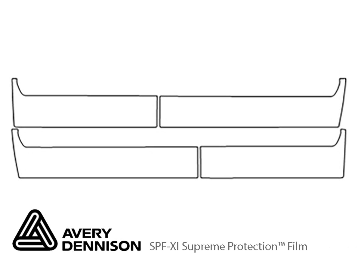 Chevrolet Silverado 2006-2006 Avery Dennison Clear Bra Door Cup Paint Protection Kit Diagram