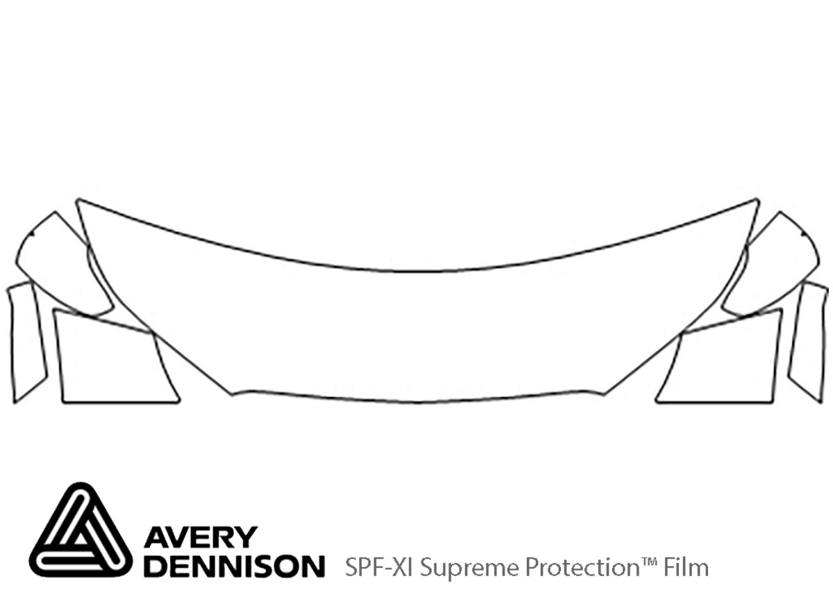 Chevrolet Spark 2016-2021 Avery Dennison Clear Bra Hood Paint Protection Kit Diagram