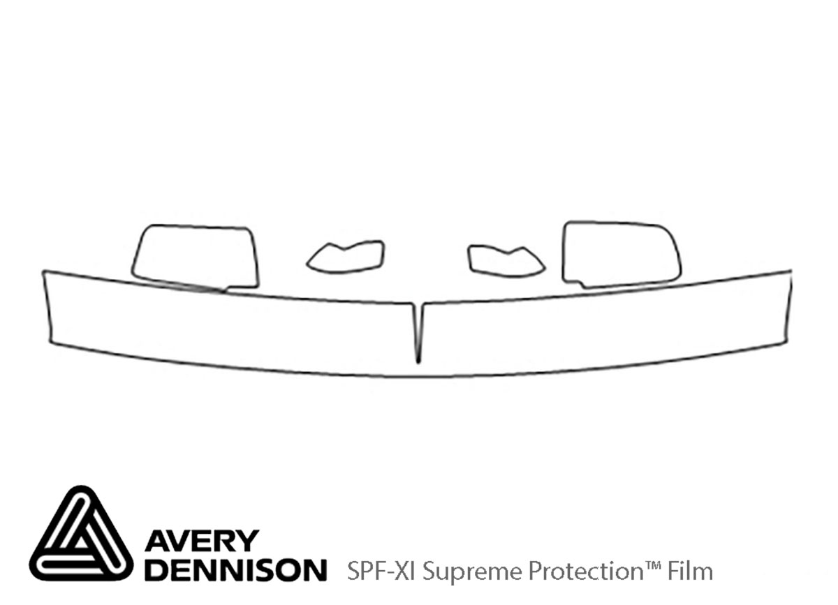 Chevrolet Suburban 1992-1999 Avery Dennison Clear Bra Hood Paint Protection Kit Diagram