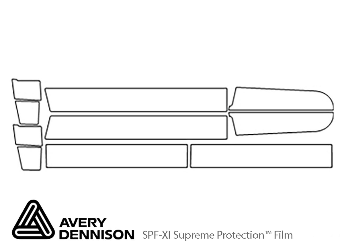 Chevrolet Suburban 1992-1999 Avery Dennison Clear Bra Door Cup Paint Protection Kit Diagram