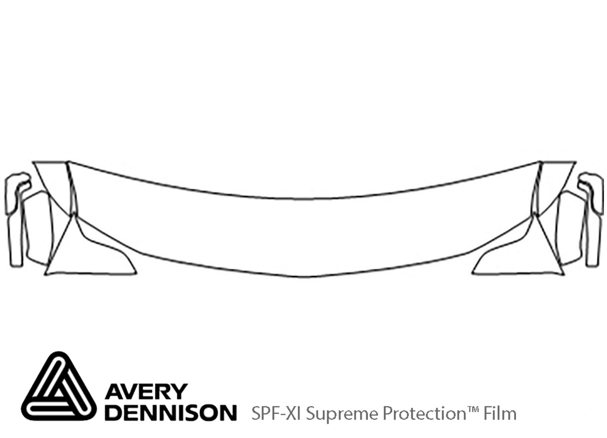 Chevrolet Suburban 2015-2020 Avery Dennison Clear Bra Hood Paint Protection Kit Diagram
