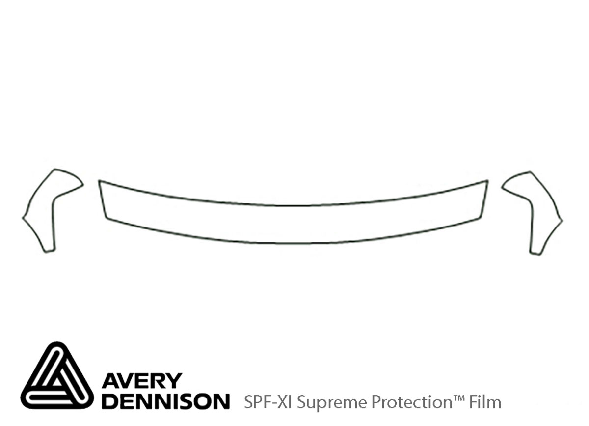 Chevrolet Tahoe 2000-2002 Avery Dennison Clear Bra Hood Paint Protection Kit Diagram