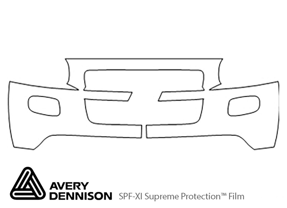 Chevrolet Uplander 2005-2008 Avery Dennison Clear Bra Bumper Paint Protection Kit Diagram