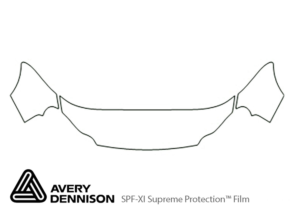 Chrysler Concorde 1998-2004 Avery Dennison Clear Bra Hood Paint Protection Kit Diagram