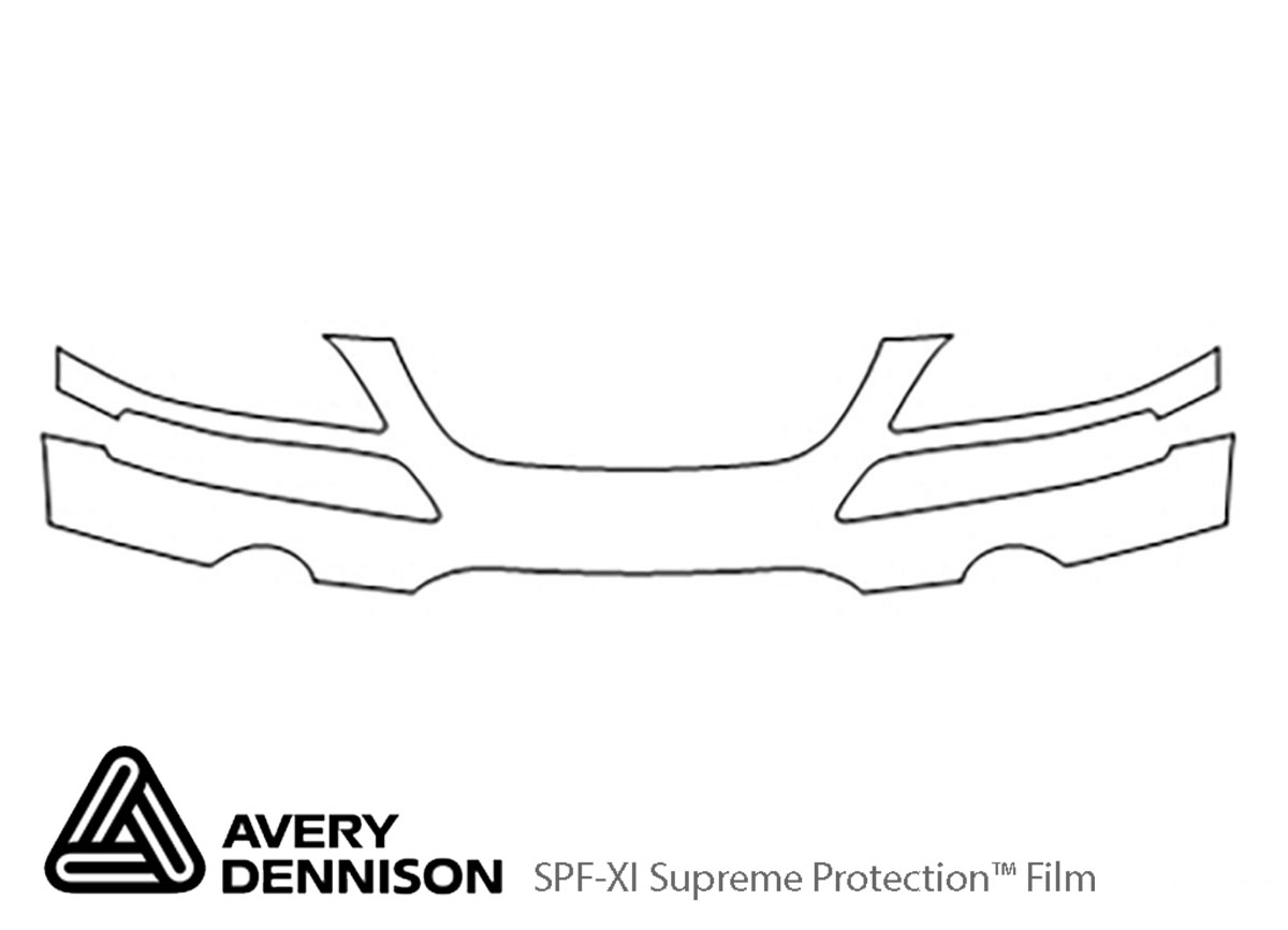 Chrysler Pacifica 2004-2008 Avery Dennison Clear Bra Bumper Paint Protection Kit Diagram