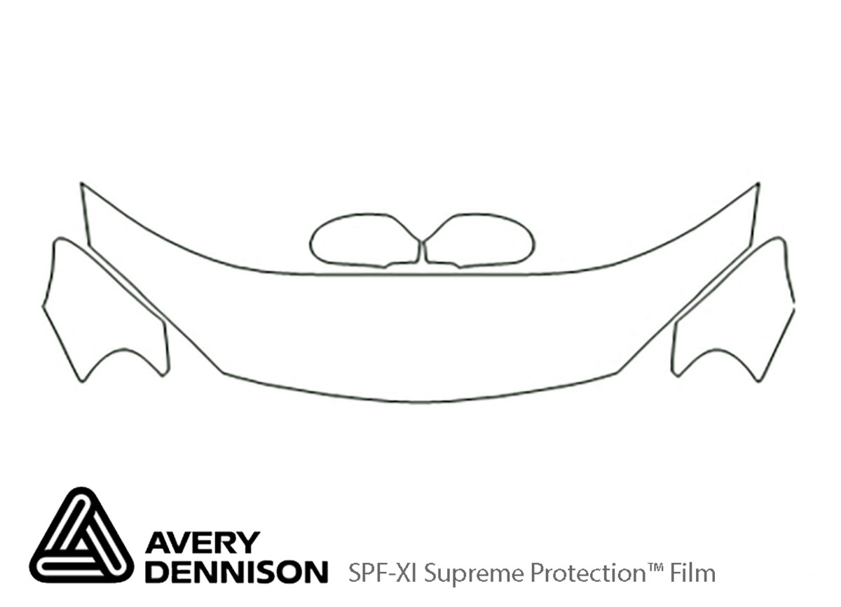 Chrysler Sebring 2001-2006 Avery Dennison Clear Bra Hood Paint Protection Kit Diagram