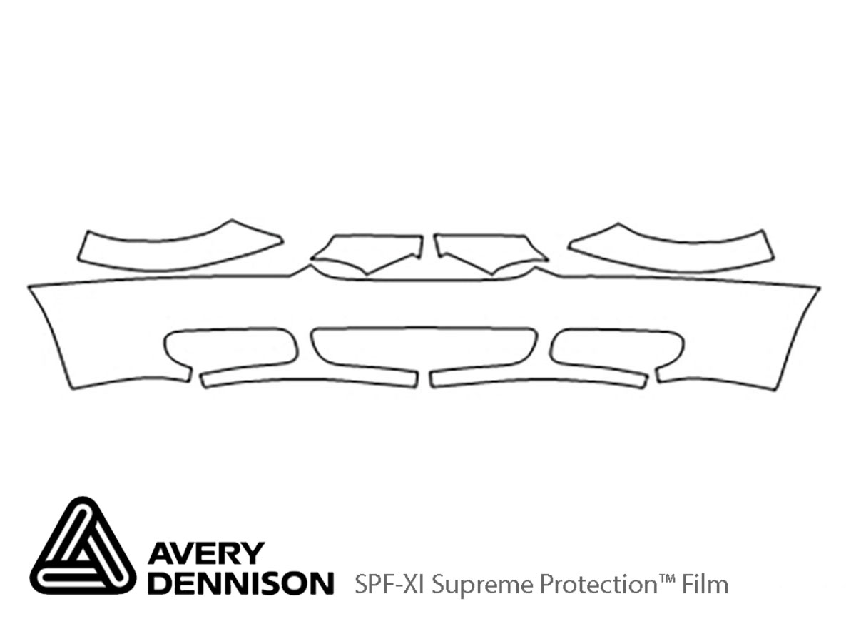 Chrysler Town and Country 2005-2007 Avery Dennison Clear Bra Bumper Paint Protection Kit Diagram
