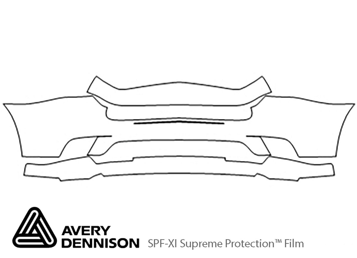 Dodge Charger 2011-2014 Avery Dennison Clear Bra Bumper Paint Protection Kit Diagram