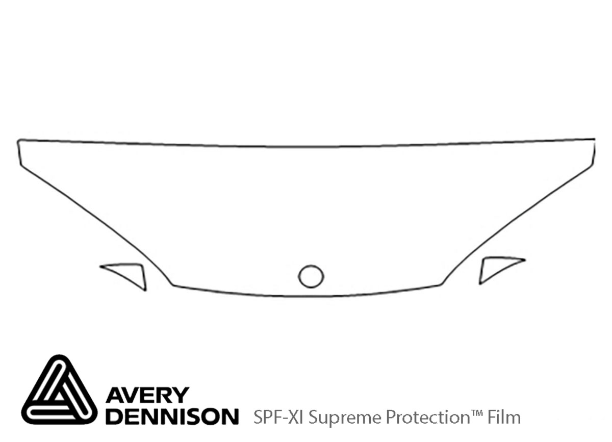 Dodge Intrepid 1998-2003 Avery Dennison Clear Bra Hood Paint Protection Kit Diagram