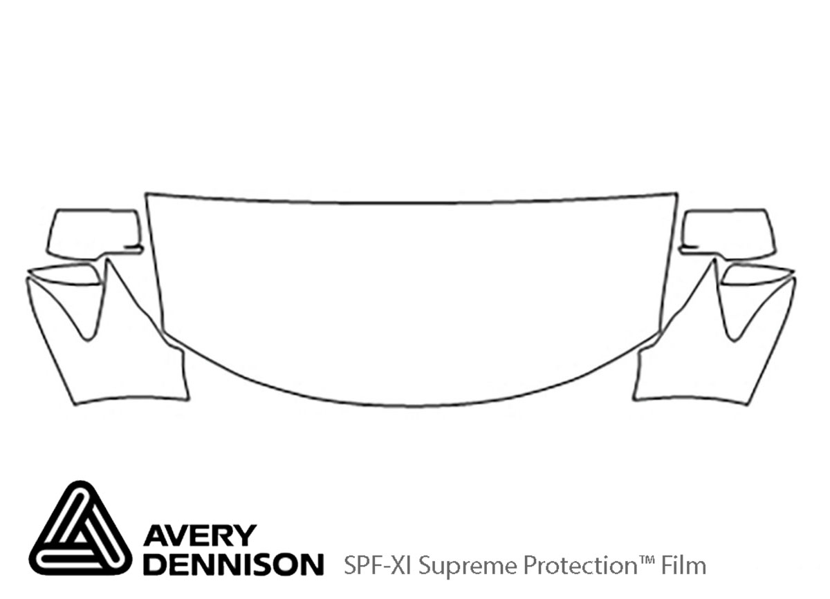 Dodge Journey 2009-2010 Avery Dennison Clear Bra Hood Paint Protection Kit Diagram
